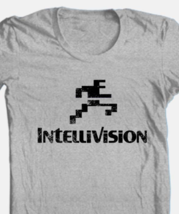 Intellivision T-shirt Free Shipping retro 80's vintage distressed logo grey tee image 1
