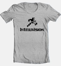 Intellivision T-shirt Free Shipping retro 80's vintage distressed logo grey tee image 2