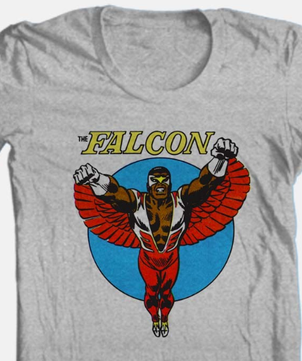 The Falcon T-shirt Free Shipping vintage comic book superhero heather grey tee