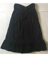 Kimichi Blue Black Strapless Dress M Lace Trim Boho Urban Outfitters - $13.85