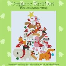 Dog Gone Christmas holiday cross stitch chart Pinoy Stitch - $7.20