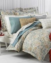 2 Ralph Lauren SEASIDE RETREAT Organic Cotton Floral Euro Shams - $80.70
