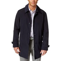 $300 Kenneth Cole New York Men's RAY Button-Front Raincoat, Navy, Size  S 36/38 - $148.49