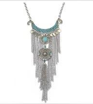 Bohemian Gypsy Style Fashion Retro Turquoise Ta... - $10.45