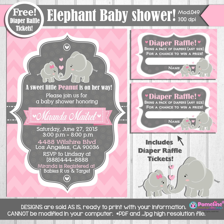 PRINTABLE Little Peanut Baby shower Invitation ||FREE diaper raffle tickets|| An - Invitations ...