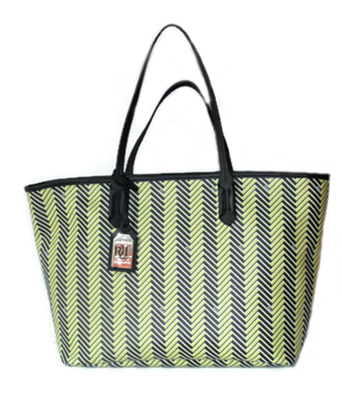 27faec972d 71mxgjdwatl. 71mxgjdwatl. Previous. Ralph Lauren Handbag Boswell Classic  Faux Leather Tote Citron ...