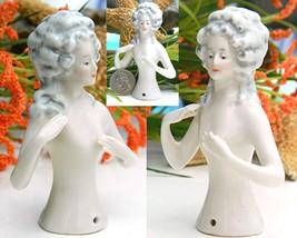 Vintage Half Doll Nude German Hands Arms Away Pincushion 7195 - $89.95