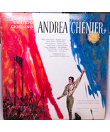 Two LP Set, Umberto Giordano Andrea Chenier, Metropolitan Opera Club, Pl... - $8.95