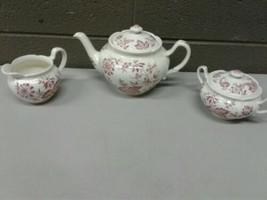 Johnson Bros England Windsor Ware Stratford Teapot Sugar Creamer (dd) (g... - $140.25