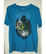 Boy Juniors Blue Star Wars T Shirt Sz Large 100 % Cotton  - $14.99