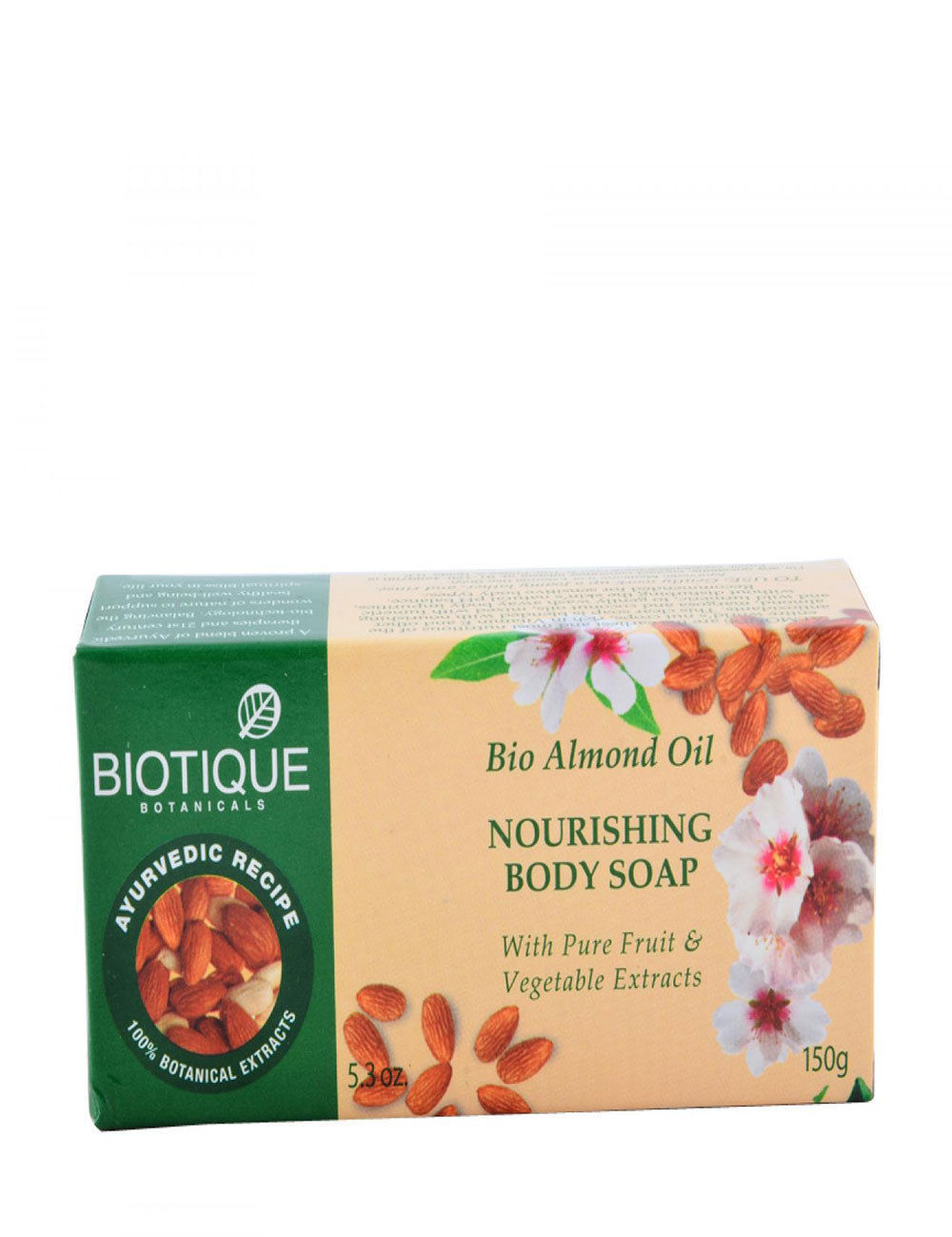 Biotique Bio Almond Nourishing Body Soap With Pure Fruit & Vegetable Extracts