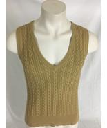 Eddie Bauer Tan Vest Cable Knit Men's Large - $19.99