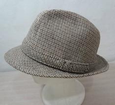 Dorfman Pacific M 7-7 1/8 Brown Tweed Wool Blend Stingy Brim Fedora Hat - $37.06