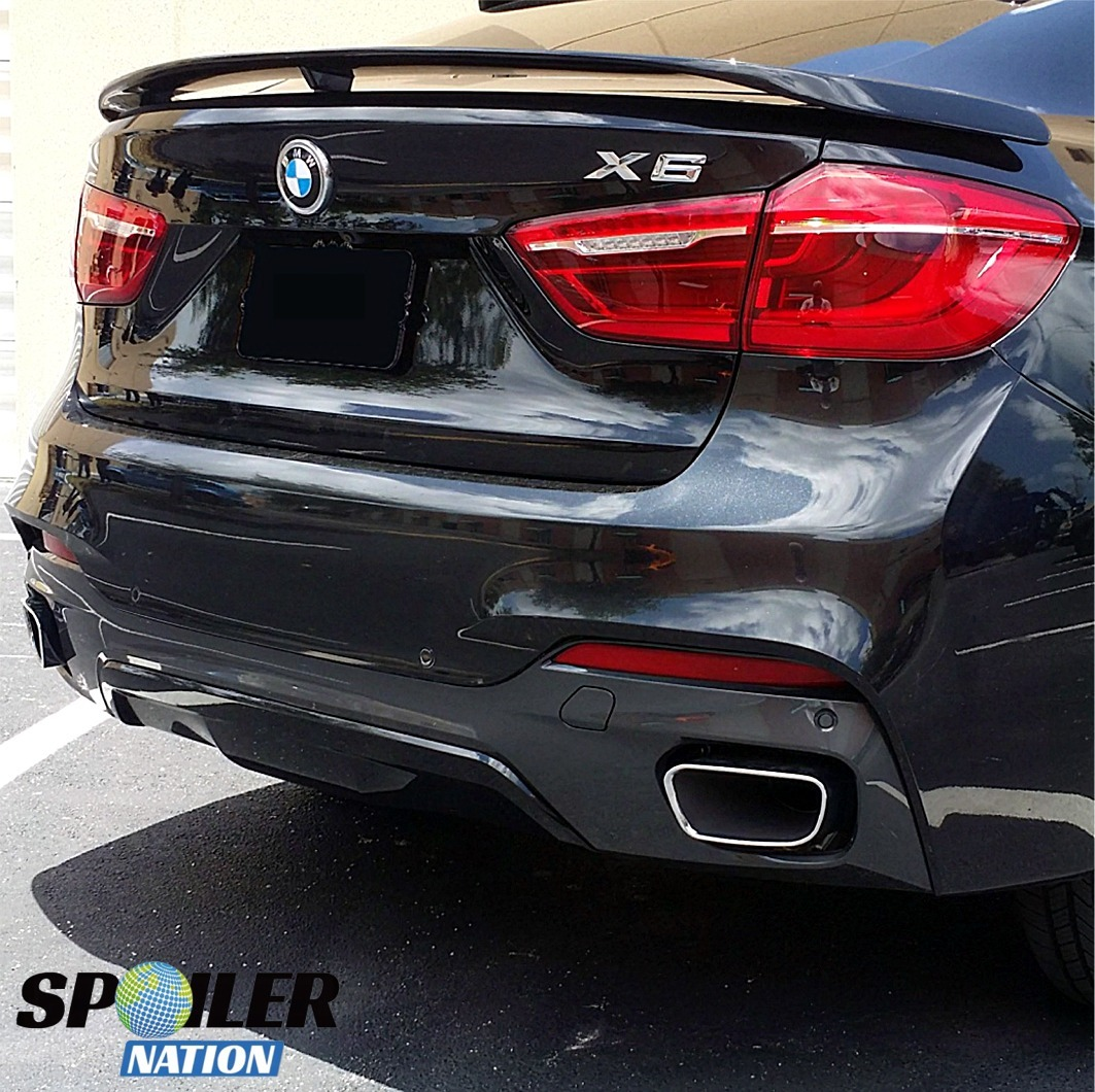 Bmw X6 Price 2015: BMW X6 Tuner Style Rear Trunk Wing Spoiler (Unpainted