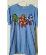 Boy Juniors Blue Marvel Legos Men T Shirt Sz Small 34/36 - $14.99