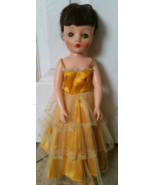 Vintage Doll 16 1/2 inch With Original Yellow d... - $64.99