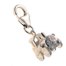 Sterling 925 British Silver Clip Charm Steam Tank Engine Face - $14.91