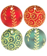 Red and Green Christmas Ornament Car Air Fresheners, 4 Pack - $14.99