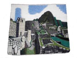 Alpakaandmore Peruvian Handmade Woven Rug Machu Picchu Theme 40 X 40 - $123.75