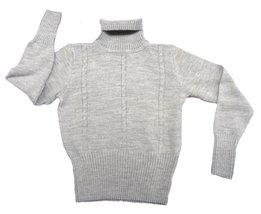 Alpakaandmore Women Turtleneck Sweater Alpaca Wool (Large, Grey) - $97.02