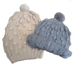 Alpakaandmore Women Douple Hand-Knitted Alpaca Wool Hat (Beige) - $31.68