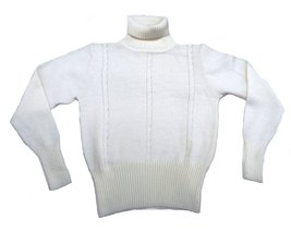 Alpakaandmore Women Turtleneck Sweater Alpaca Wool (Large, White) - $97.02