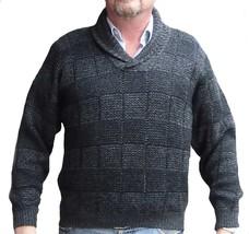 Alpakaandmore Men Sweater, Peruvian Alpaca Wool Pullover Green (X-Large) - $156.42