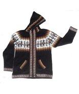 Alpakaandmore Unisex Alpaca Wool Hooded Cardigan Sweater, Peru Designs B... - $41.58