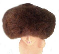 Alpakaandmore Womens Baby Alpaca Wide Brim Fur Mongolian Hat Satin Lined Russ... - $64.35