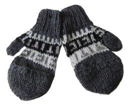 Alpakaandmore Unisex Child 100% Natural Alpaca Wool Fingerless Gloves wi... - $15.84