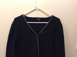 Women's Loulou Black Button Up Long Sleeve Cardigan Size S image 2