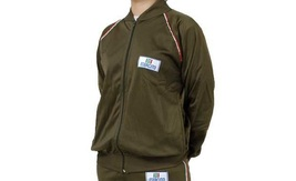 Italian Army Tracksuit Top jacket hoody military vintage retro sports zi... - $11.00