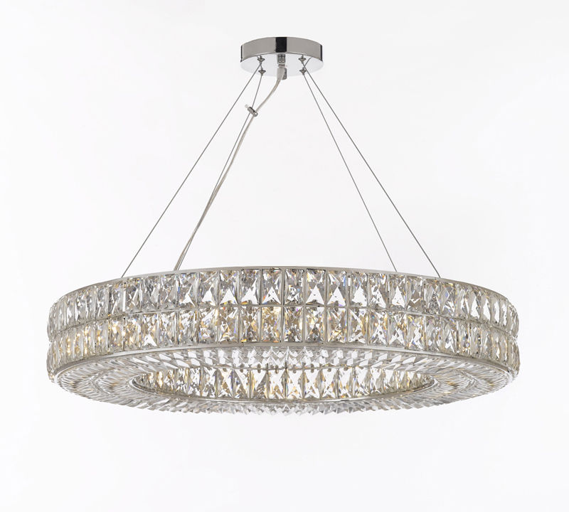 Crystal spiridon ring chandelier modern contemporary lighting pendant chandeliers ceiling - Crystal hanging chandelier ...