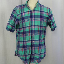 Ralph Lauren Men's Sz L Classic Fit Short Sleeve Button-Front Check Plai... - $22.43