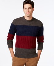 Tommy Hilfiger Ziggy Colorblocked Cable-Knit Sweater. XL - $49.01