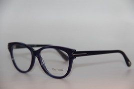 NEW TOM FORD TF 5287 092 BLUE EYEGLASSES AUTHENTIC RX TF5287 55-15 W/CASE - $123.00
