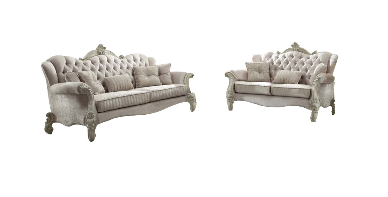 Acme Versailles Living Room Set With Sofa And Loveseat Furniture