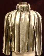 Silver Fox Faux Fur Stylish Waist Dress Jacket by 'INC.' - $40.00