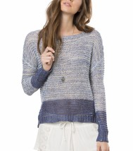 O'Neill COASTA Womens Boat Neck Pullover Sweater Size Small White Blue N... - $64.00