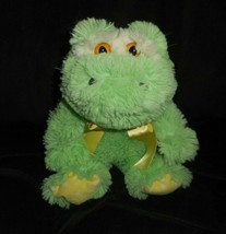 """12 """" Tier- Abenteuer Baby Grüner Frosch Gelb Bogen Plüschtier Spielzeug Lovey - $21.87"""