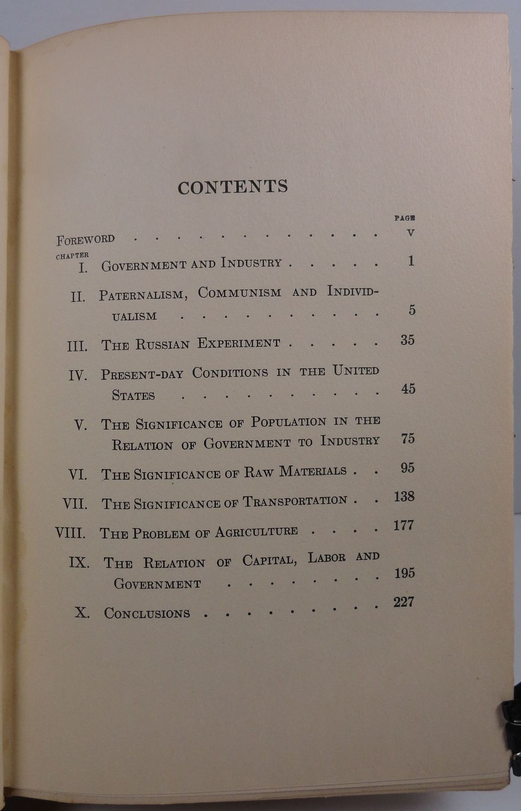 The Relation of Government to Industry by Mark L. Requa 1925