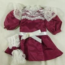 American girl 18 inch doll dress handmade maroo... - $9.99