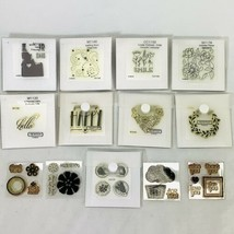 Close To My Heart Stamps Lot of 13 Mixed Themes Flowers Hello Thank You ... - $18.97