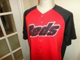 Vtg Sewn Red Majestic Cincinnati Reds MLB Baseball Jersey Fits Adult L Rare Nice - $43.07