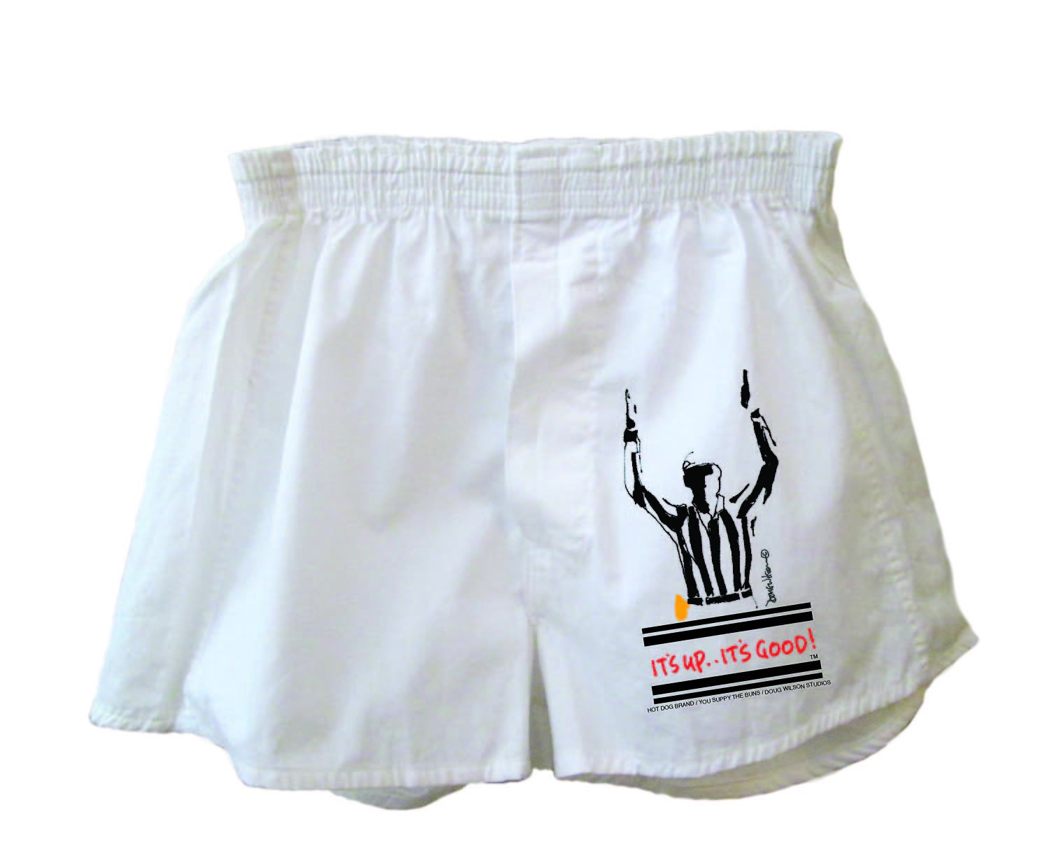 "Boxer Shorts for Football Fan with Referee Call ""It's Up, It's Good!"" (TM) (XL)"