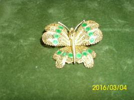 Beautiful Intricately Made MOTH BROOCH Signed Sterling Silver - $24.99