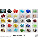 100Pcs Top Quality Czech Crystal Faceted Briolette Beads 6mm x 12mm Pick... - $7.01+