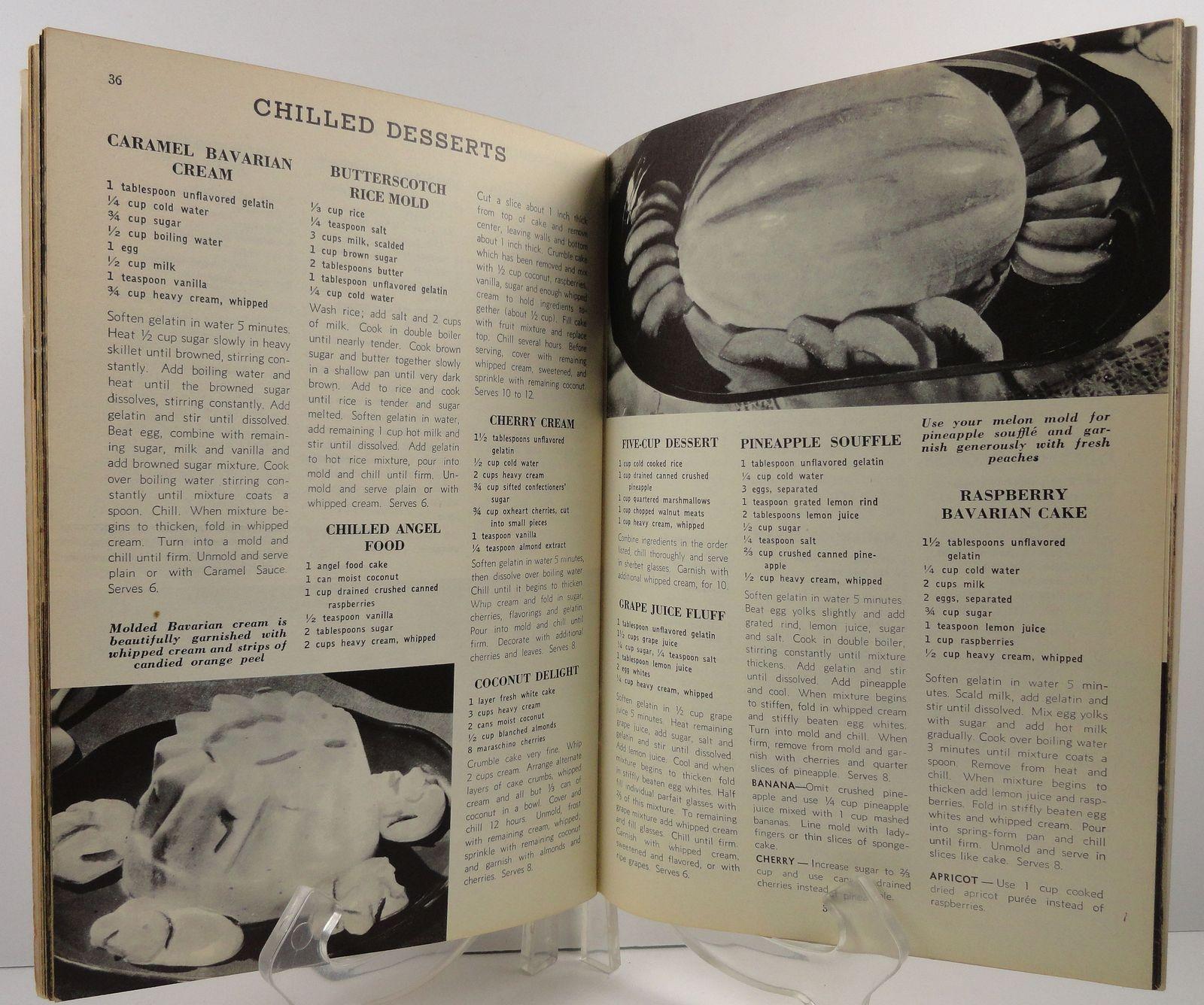 250 Luscious Refrigerator Desserts Ruth Berolzheimer 1950