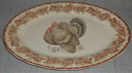 Gooseberry Patch THANKSGIVING TABLE THEME Oval Serving Platter TURKEY MOTIF image 4