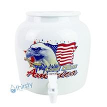 Bald Eagle USA Water Crock Dispenser Ceramic Porcelain Pot Spigot Faucet Valve  - $45.80